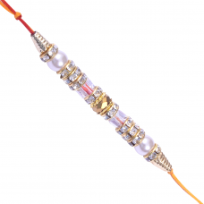 Bead & Stone work Multicolored Rakhi-3