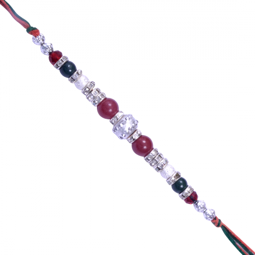 Bead & Stone work Multicolored Rakhi-6