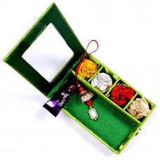 Lumba Rakhi online in Gift Box for Bhabhi- Rakhis Online -LR 003 4P