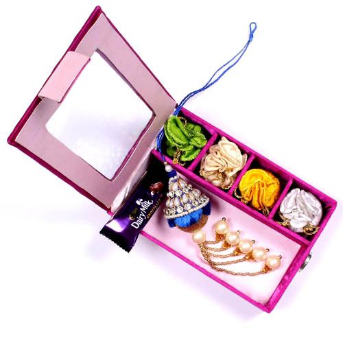 Lumba Rakhi online in Gift Box for Bhabhi- Rakhis Online -LR 006 4P