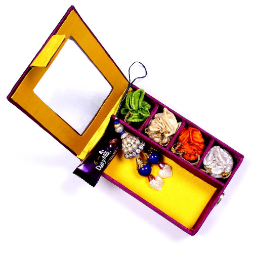 Lumba Rakhi online in Gift Box for Bhabhi- Rakhis Online -LR 009 4P