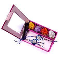 buy Bhaiya Bhabhi Rakhi in Gift Box- Rakhis Online -BBR 003 4P
