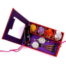 send Bhaiya Bhabhi Rakhi to USA in Gift Box- Rakhis Online -BBR 014 4P