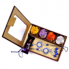 Rakhi for Bhaiya Bhabhi to USA in Gift Box- Rakhis Online -BBR 016 4P