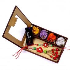 Rakhi for Bhaiya Bhabhi to India in Gift Box- Rakhis Online -BBR 015 4P