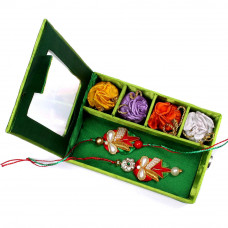 Bhaiya Bhabhi Rakhi to USA free shippingin Gift Box- Rakhis Online -BBR 010 4P
