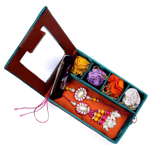 Pretty Pink Bhaiya Bhabhi Rakhi in Gift Box