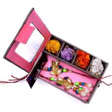 send Bhaiya Bhabhi Rakhi in Gift Box- Rakhis Online -BBR 005 4P