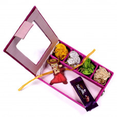 Rakhi for baby Brother - Kids Rakhi infant in Gift Box- Rakhis Online -KR 021 4P