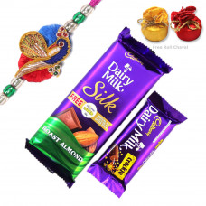 Rakhi with DM Silk & crackle Chocolates