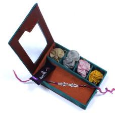 Charming Gemstone Brother Rakhi Gift Box