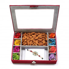 Rakhi Gifts for Brother to India - Rakhi Gift Box with almonds- Rakhis Online -BR 305 8PBM