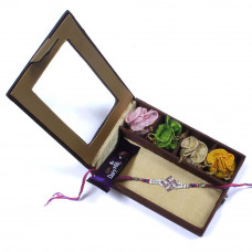 Rakhi to India express delivery - Brother Rakhi Gift Box- Rakhis Online -BR 010 SR4P