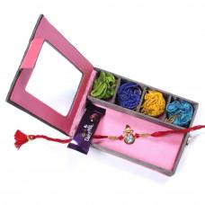 Rakhi to kolkata India - Brother Rakhi Gift Box- Rakhis Online -BR 019 SR4P