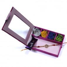 send online Rakhi to India ahmedabad - Brother Rakhi Gift Box- Rakhis Online -BR 004 SR4P
