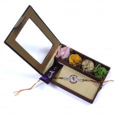Rakhi to indore India - Brother Rakhi Gift Box- Rakhis Online -BR 011 SR4P