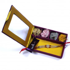Rakhi India gift portal - Brother Rakhi Gift Box- Rakhis Online -BR 016 SR4P