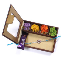 send Rakhi to India from melbourne - Rakhi Gift Box- Rakhis Online -BOL 024 SR4P