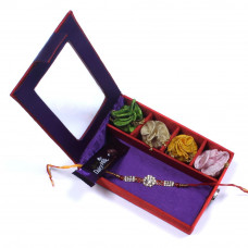 e-Rakhi for Brother - Brother Rakhi Gift Box- Rakhis Online -BR 029 SR4P
