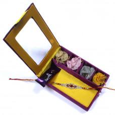 Rakhi to India gujarat - Brother Rakhi Gift Box- Rakhis Online -BR 015 SR4P