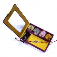 Rakhi to India hyderabad - Brother Rakhi Gift Box- Rakhis Online -BR 017 SR4P