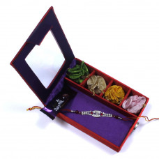 Rakhi Gifts for Brother to USA - Brother Rakhi Gift Box- Rakhis Online -BR 030 SR4P