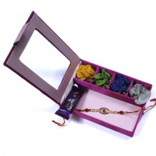 Rakhi to Brother in India in a Gift Box- Rakhis Online -BR 002 SR4P