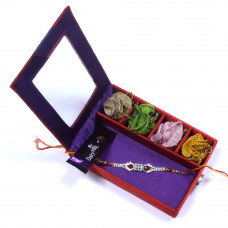 designer Rakhi for Brother - Brother Rakhi Gift Box- Rakhis Online -BR 028 SR4P