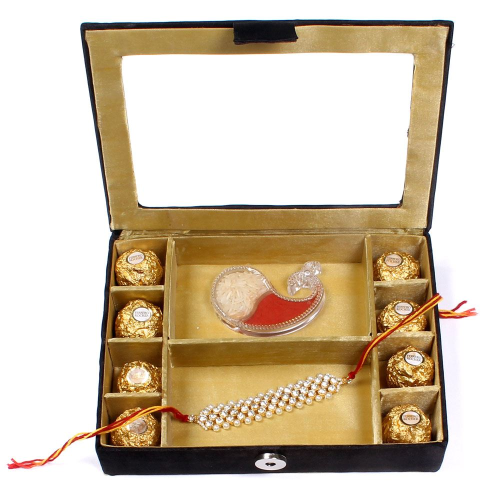 Chocolate Gift Boxes Delhi : Rakhi gifts for brother in delhi gift box with