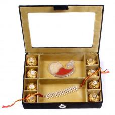 Rakhi Gifts for Brother in delhi - Rakhi Gift Box with chocolates- Rakhis Online -BR 025 SR8F