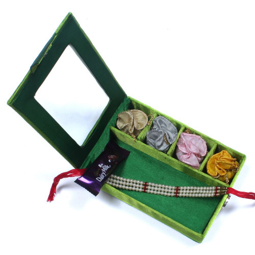 online Rakhi India to USA - Brother Rakhi Gift Box- Rakhis Online -BR 026 SR4P