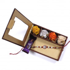 Rakhi to India - Brother Rakhi Gift Box- Rakhis Online -BR 012 SR4P