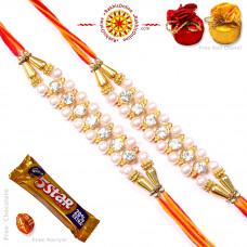 buy Rakhi Set online - Two Brother Rakhi Set- Rakhis Online -BR 220 DR