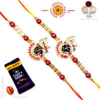 buy Rakhi Set - Two Brother Rakhi Set- Rakhis Online -BR 224 DR
