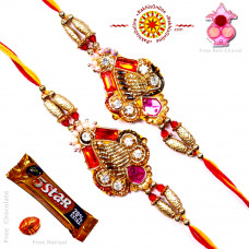 buy Rakhi Set - Two Brother Rakhi Set- Rakhis Online -BR 227 DR