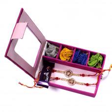 Rakhi gift Set online - two Brother Rakhi Set Gift Box- Rakhis Online -BR 004 DR4P