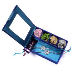 Rakhi sets to India from USA - two Brother Rakhi Set Gift Box- Rakhis Online -BR 007 DR4P