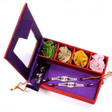 Rakhi for Brother with gift - two Brother Rakhi Set Gift Box- Rakhis Online -BR 030 DR4P