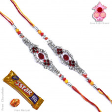 Rakhi gift Set online - Two Brother Rakhi Set- Rakhis Online -BR 015 DR
