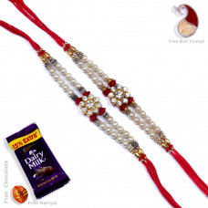 Rakhi gift Set online - Two Brother Rakhi Set- Rakhis Online -BR 016 DR