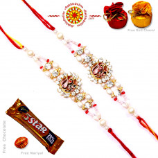 buy Rakhi Set - Two Brother Rakhi Set- Rakhis Online -BR 225 DR