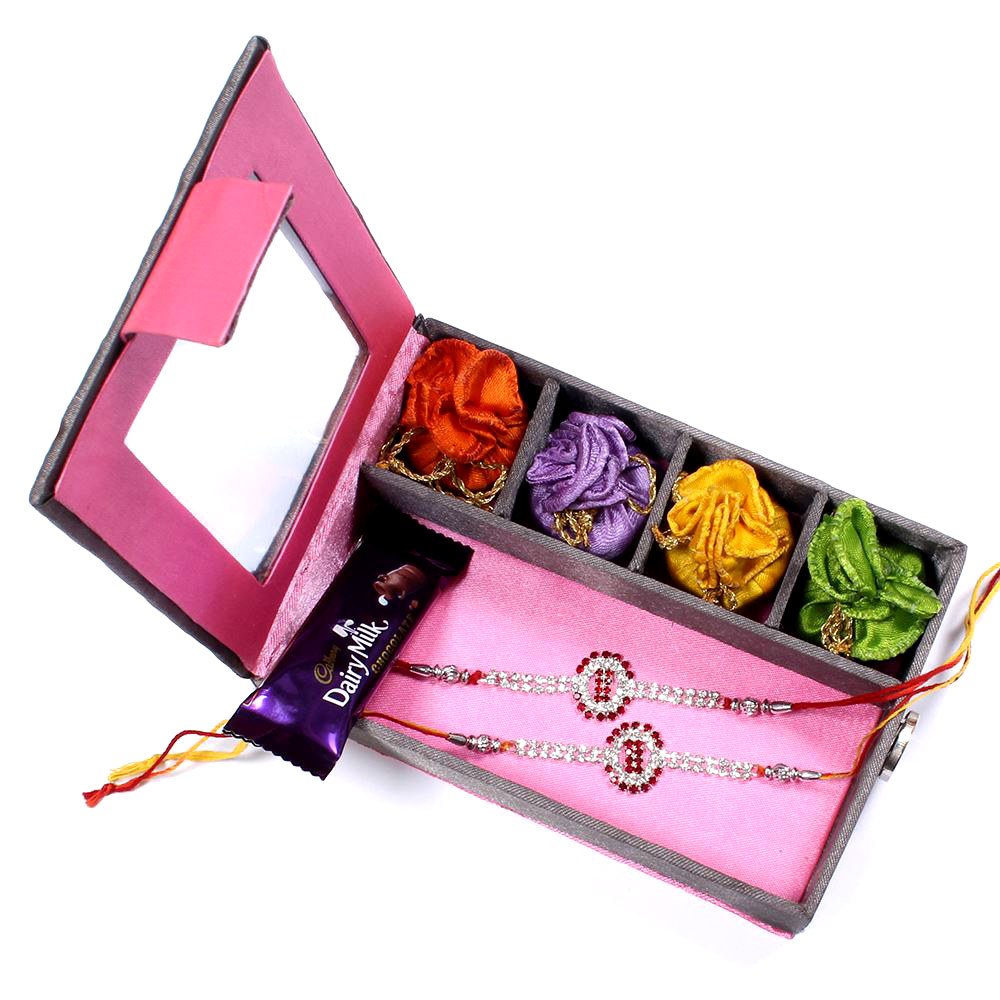 Send Rakhi To India Next Day Delivery Two Set Gift Box Rakhis Br 023 Dr4p