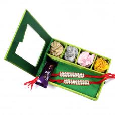 Rakhi for Brother - two Brother Rakhi Set Gift Box- Rakhis Online -BR 027 DR4P