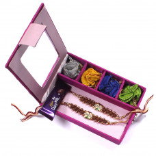 Rakhi gift Set online - two Brother Rakhi Set Gift Box- Rakhis Online -BR 003 DR4P