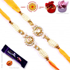 buy Rakhi Set - Two Brother Rakhi Set- Rakhis Online -BR 226 DR