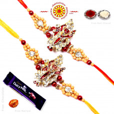 buy Rakhi Set - Two Brother Rakhi Set- Rakhis Online -BR 228 DR