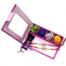 Rakhi gift Set online - two Brother Rakhi Set Gift Box- Rakhis Online -BR 005 DR4P