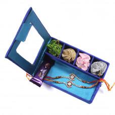Rakhi gift Set online - two Brother Rakhi Set Gift Box- Rakhis Online -BR 006 DR4P
