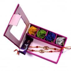 Rakhi gift Set online - two Brother Rakhi Set Gift Box- Rakhis Online -BR 002 DR4P