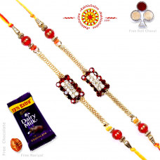 buy Rakhi Set online - Two Brother Rakhi Set- Rakhis Online -BR 223 DR